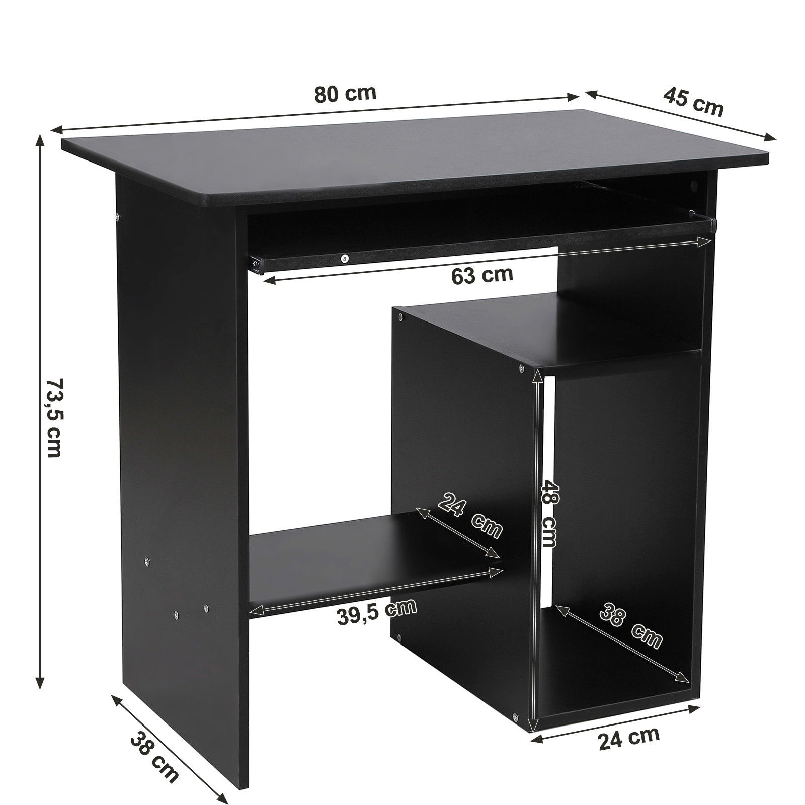 computer desk office table work table kids table pc table with shelf